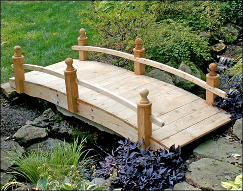 wooden footbridge plans images