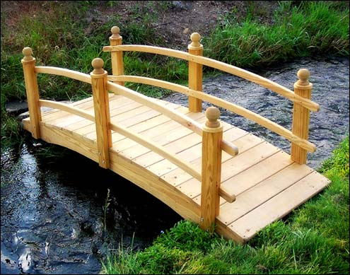 Etonnant Treated Pine Keira Double Rail Garden Bridge