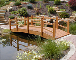 Backyard Bridge Designs arched garden bridge plans workshop projects and plans Garden Bridge Options Include Treated Pine Cedar Custom Bridges